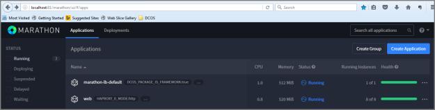 Marathon Web UI